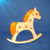 Little cartoon vector wooden horse toy Royalty Free Stock Photo