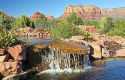 A Little Cascade on a Sunny Sedona Day Stock Photo