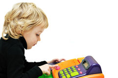 Little cashier Stock Photography