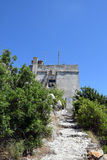 Little castle on the hill. Of Lastovo stock images