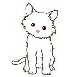 Little cat. Cartoon line art of little cat Royalty Free Stock Photos
