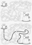 Little cat maze stock photos