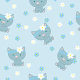 Little cat. Pattern Royalty Free Stock Image