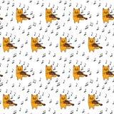 Little cat seamless pattern Royalty Free Stock Photos