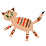 Little cat (vector version) Royalty Free Stock Images
