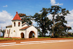 Little Catholic church in the city of Gurue. Mozambique, Africa Stock Photo