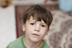 Little caucasian boy grunge portrait Stock Image