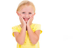 Little caucasian girl Stock Photos