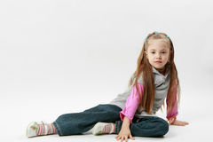 Little caucasian girl pose Royalty Free Stock Photos
