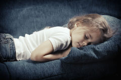 Sleeping little girl Royalty Free Stock Image