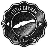 Little Cayman map vintage stamp. Retro style handmade label, badge or element for travel souvenirs. Black rubber stamp with island map silhouette. Vector Royalty Free Stock Images