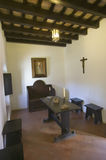 This little cell is where America was born, it is where Christopher Columbus and Franciscans met and prayed at the 15th-century Fr Stock Photo