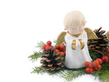 Little ceramic angel - Christmas decoration Royalty Free Stock Photography