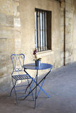 Little chair and table in the corner Royalty Free Stock Photography