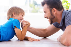 Little champion. Royalty Free Stock Images