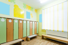 Little Changing Room in the Kindergarten Royalty Free Stock Image