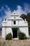 Little chapel. A small white chapel in sabtang island, philippines stock photography