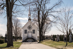 Little chapel in a cemetery Stock Photo