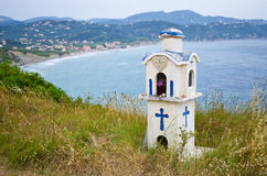 Little chapel on Corfu island, Greece Royalty Free Stock Images