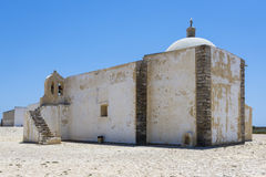 Little chapel of Fortaleza de Sagres in Portugal Stock Photo