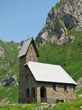 Little chapel in the mountains Stock Photos