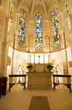 Little chapel with nice stained glasses Stock Images