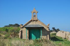 Little Chapel,Ploumanach,Brittany Royalty Free Stock Image