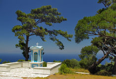 Little chapel in Samos island - Greece Royalty Free Stock Photography