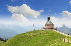 Little chapel on wallberg summit, region tegernsee, germany Stock Photography