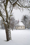 Little chapel in winter Stock Photos