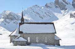 Chappel in Melchsee-Frutt, Switzerland Stock Photography