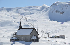 Little chappel in Melchsee-Frutt Stock Images
