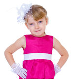 Little charming fashionista Royalty Free Stock Images