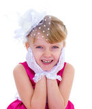 Little charming fashionista Stock Images