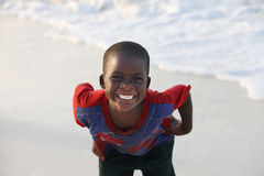 Little cheerful African boy Royalty Free Stock Photography