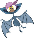 Little cheerful bat.Cartoon Stock Image