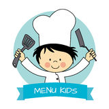 Little chef boy Stock Photos
