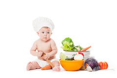 Little chef cooks Royalty Free Stock Image