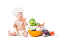 Little chef cooks Royalty Free Stock Images
