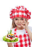 Little chef with creative food Royalty Free Stock Photo
