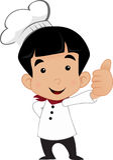 Little Chef. Little Cute Boy Chef Avatar Stock Image