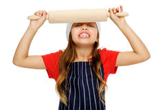 Little chef girl Royalty Free Stock Images