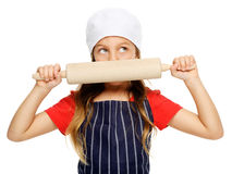 Little chef girl Stock Image