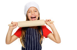 Little chef girl Royalty Free Stock Photography