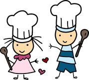 Little Chef Kids Royalty Free Stock Photography