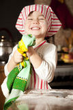 Little chef in the kitchen Stock Image