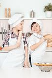 Little chef in the kitchen preparing food. This image has attached release Stock Photography