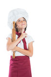 Little chef thinking Stock Photography