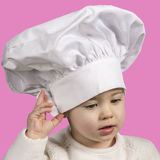 Little chef with typical hat Royalty Free Stock Image