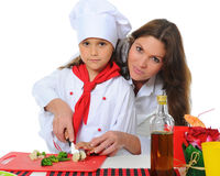 Little Chef in uniform. Royalty Free Stock Photo